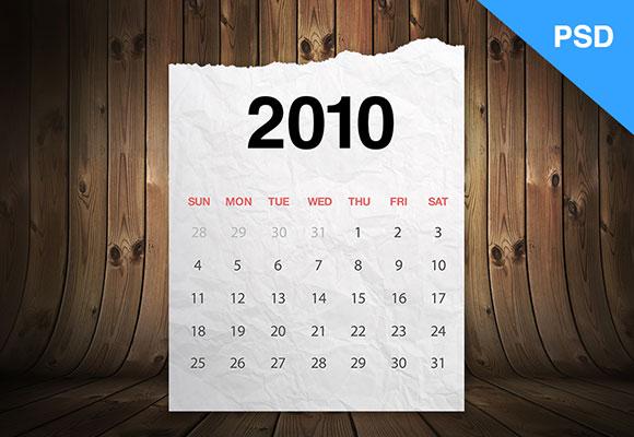 木纹纸质的日历UI界面 时间日期-第1张