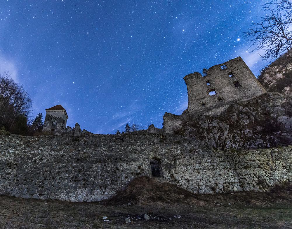 星空 废墟 古老的城市 夜晚 自然风景-第1张