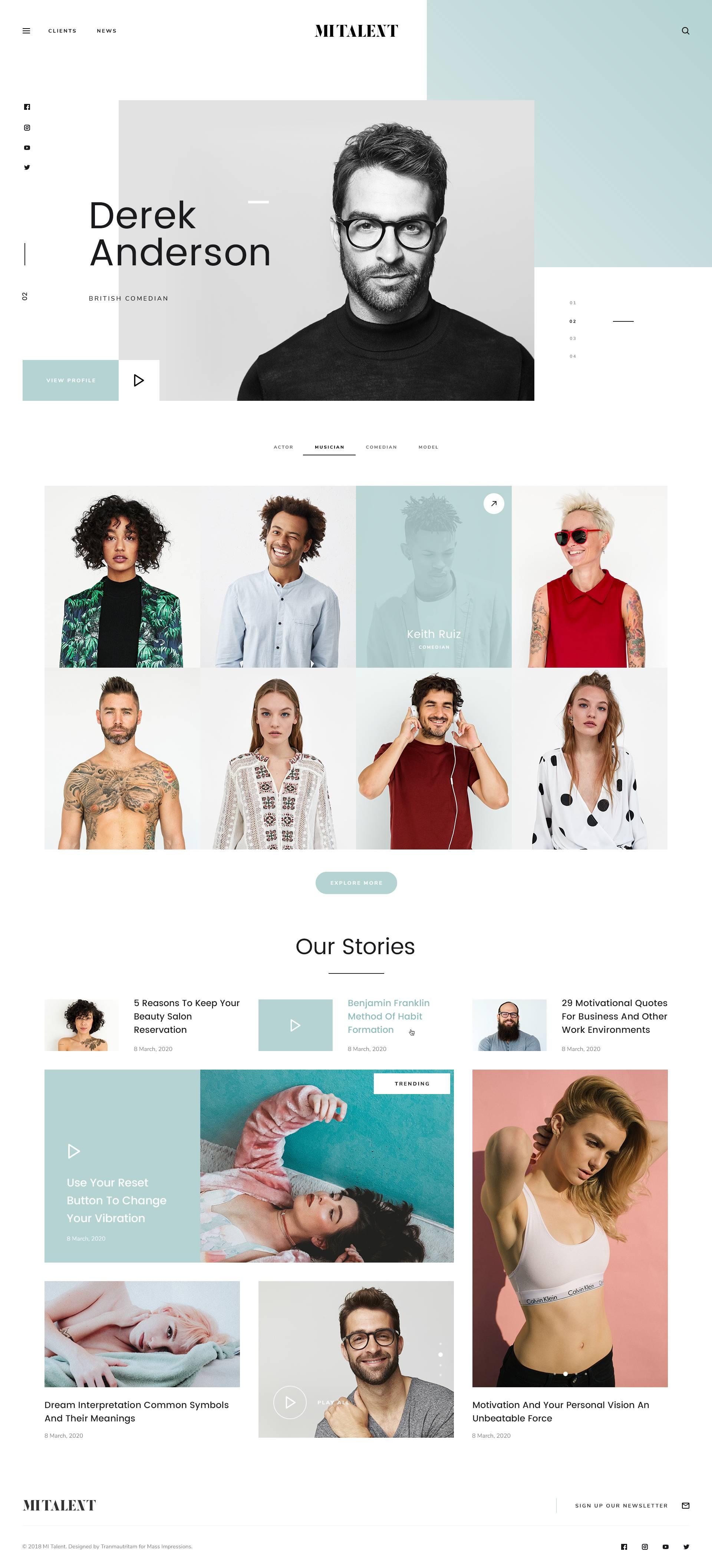 MITALENT网站UI界面设计 .psd素材下载 网页模板-第2张