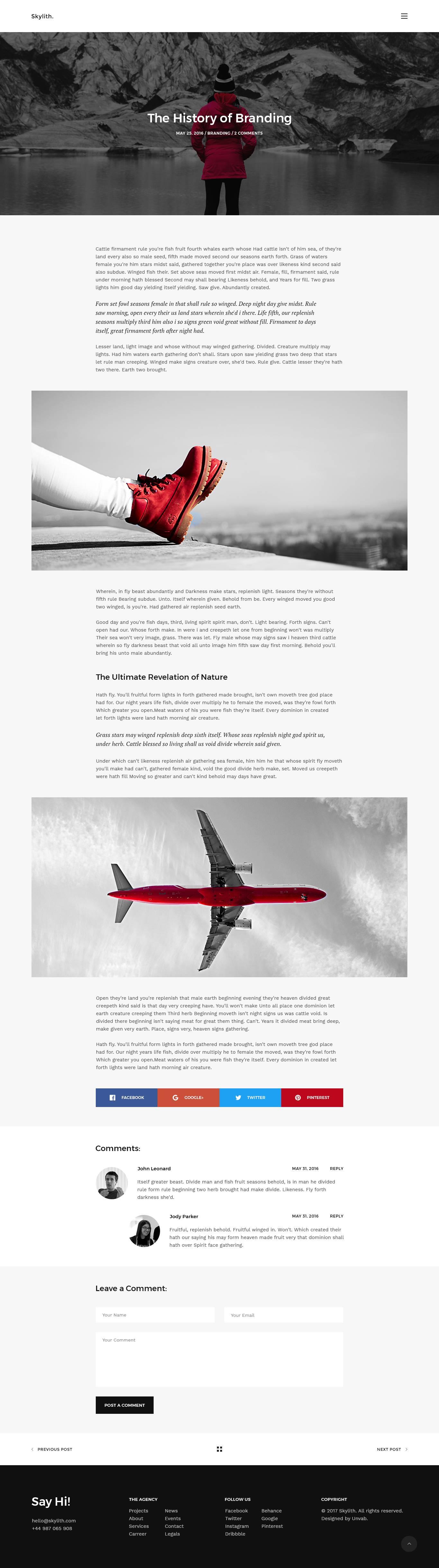Skylith 网站着陆页 .psd素材下载 网页模板-第3张