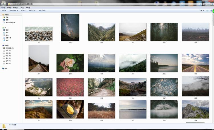 [素材包]450张欧美商用高清自然风景图库素材 JPEG图片素材设计网页背景图 素材包-第2张