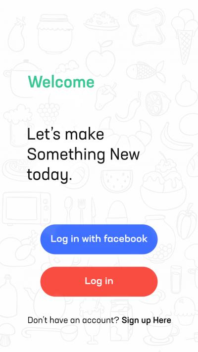 厨房美食类 App 引导页界面设计.psd素材下载 界面-第2张