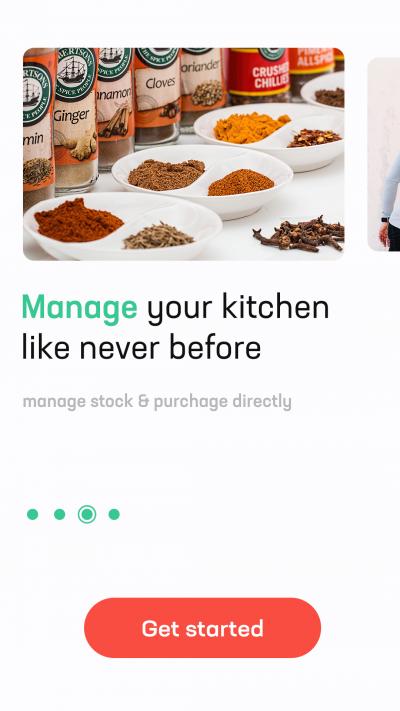 厨房美食类 App 引导页界面设计.psd素材下载 界面-第4张