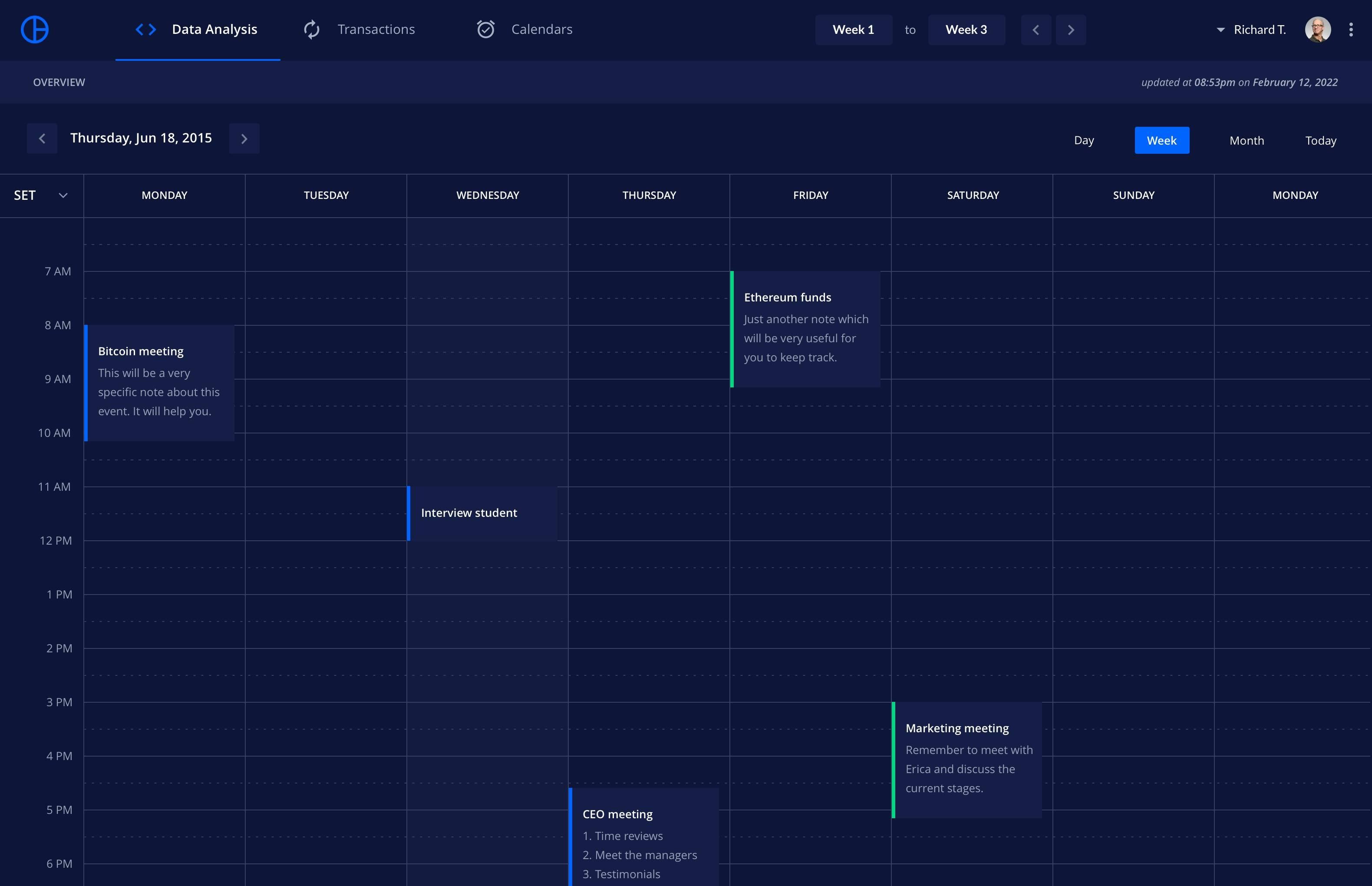 Calendar 日历应用界面.sketch素材下载 界面-第1张