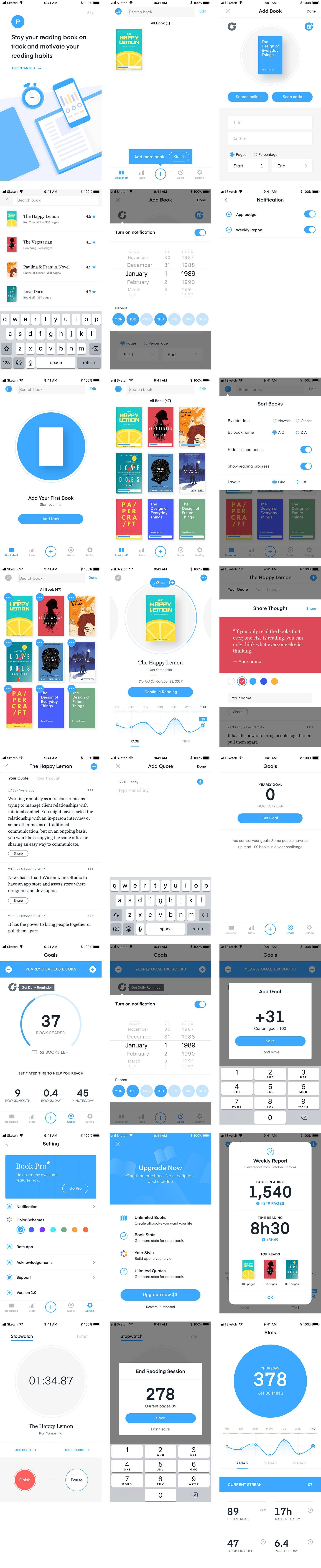 Policia阅读类 UI界面设计主题包.sketch素材下载 主题包-第1张