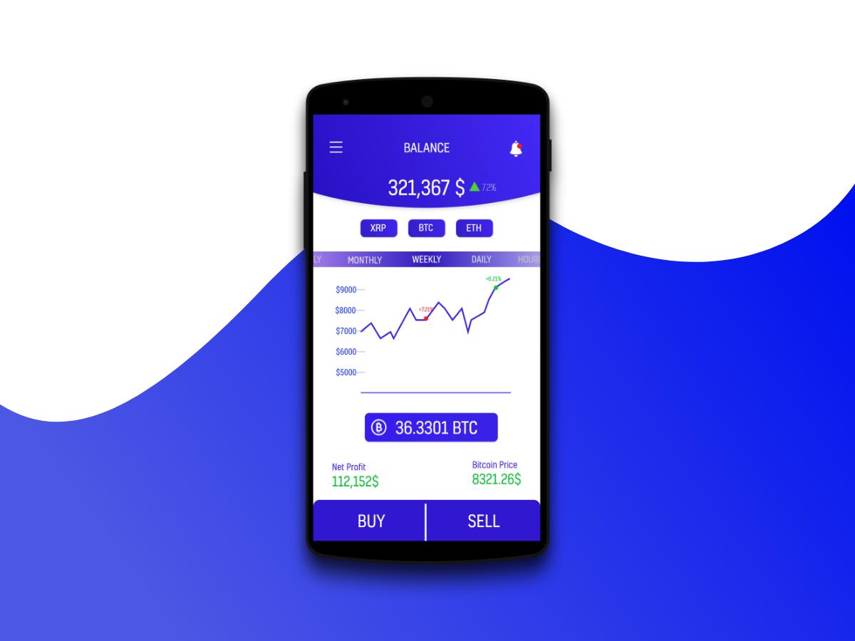 Cryptocurrency App .xd下载 界面-第1张