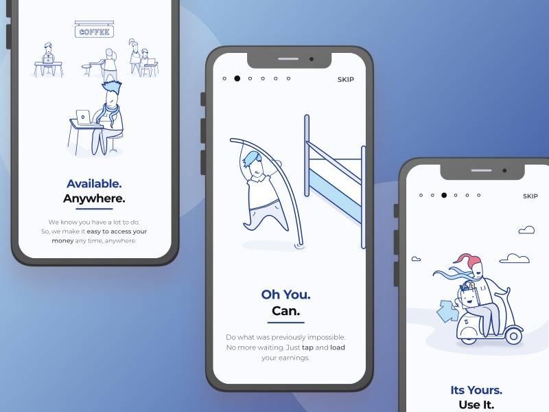 app Onboarding引导界面设计.psd素材下载 界面-第1张