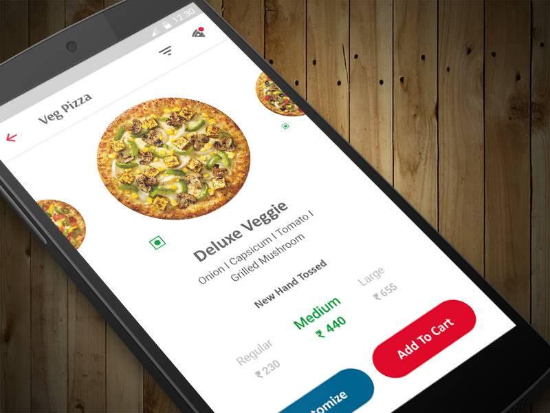 Pizza app ui界面设计 .psd素材下载 界面-第1张
