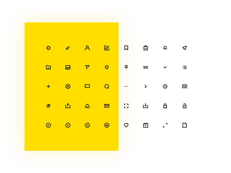 Universal 线型图标icon集.sketch素材下载 图标-第1张
