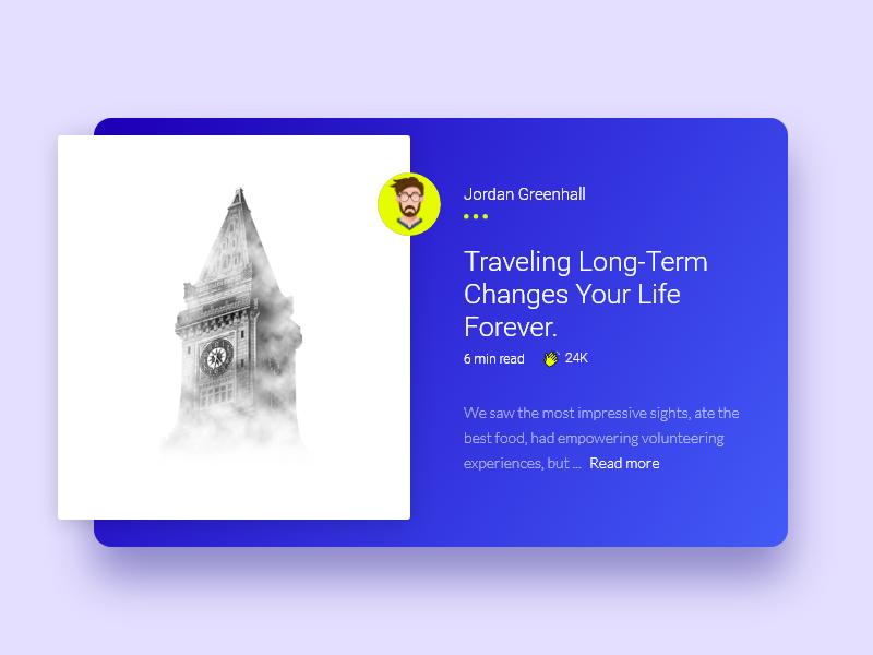 网页旅行博客内容卡片设计.xd素材下载 网页模板-第1张