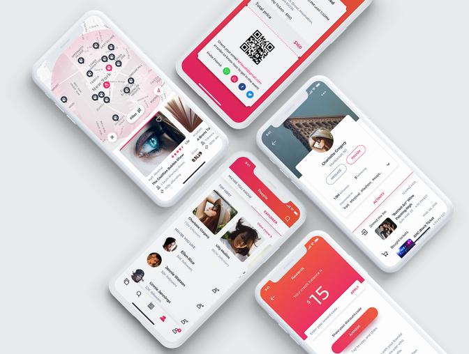 EVEZ社交类App UI Kit主题包 .Sketch素材下载 & .XD素材下载 主题包-第2张