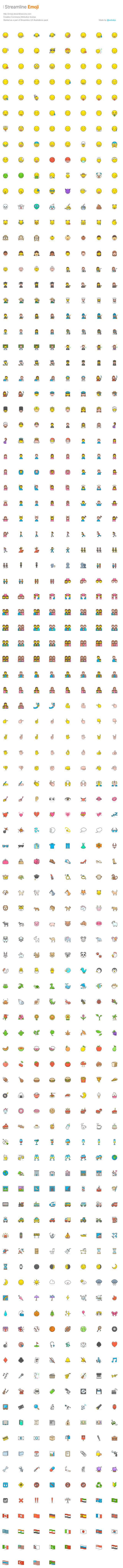 780+多个AI矢量Emoji表情.svg .sketch & .ai素材下载 图标-第2张