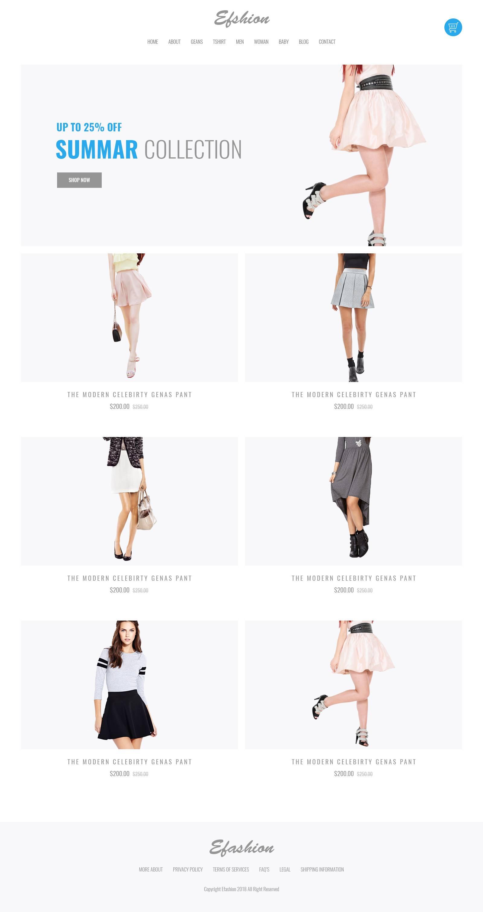 时装购物网站首页模板.psd素材下载 网页模板-第1张