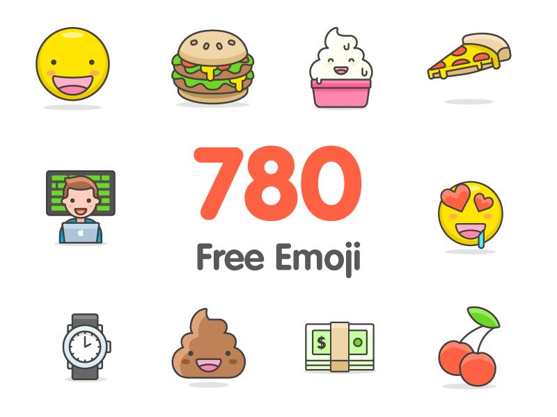 780+多个AI矢量Emoji表情.svg .sketch & .ai素材下载 图标-第1张