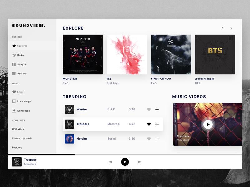 Music UI界面设计 Dashboard .sketch素材下载 影音播放-第1张