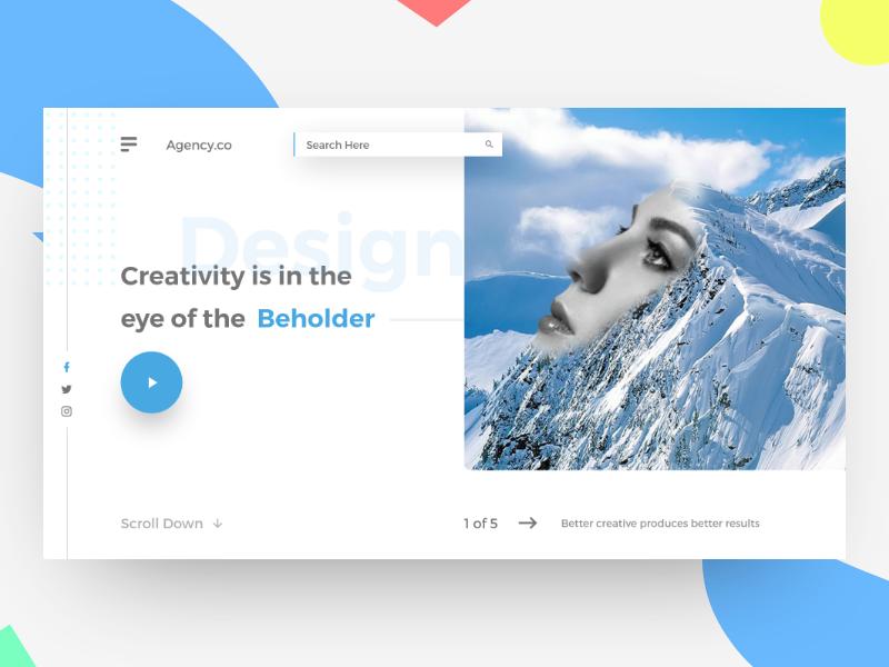 创意设计网站UI界面模板设计 .psd素材下载 网页模板-第1张