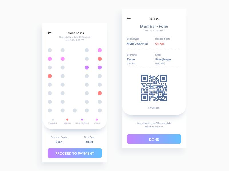 网络车票选座购买app ui界面设计 .sketch素材下载 界面-第1张