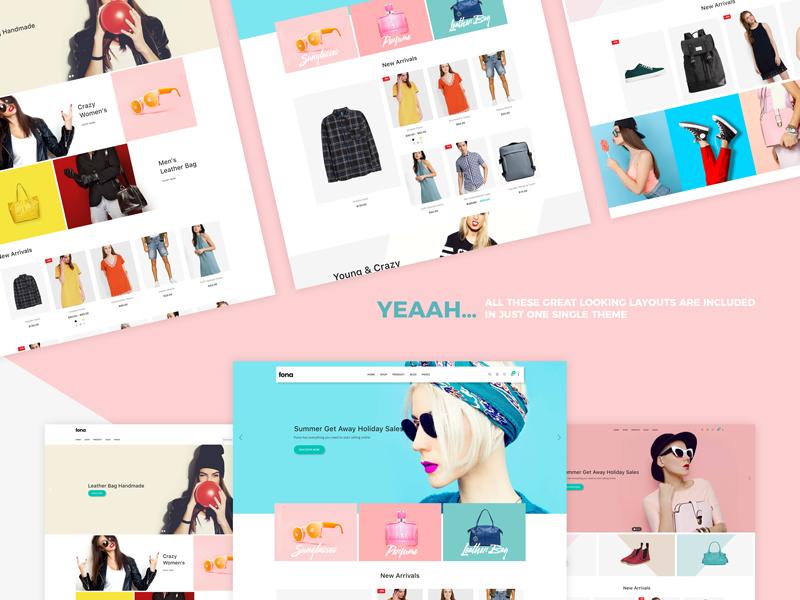 时尚的电商购物着陆页网站模板.psd素材下载 网页模板-第1张
