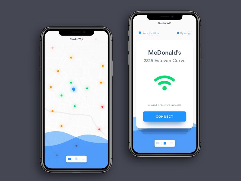 app地图查找UI界面设计.sketch素材下载 界面-第1张