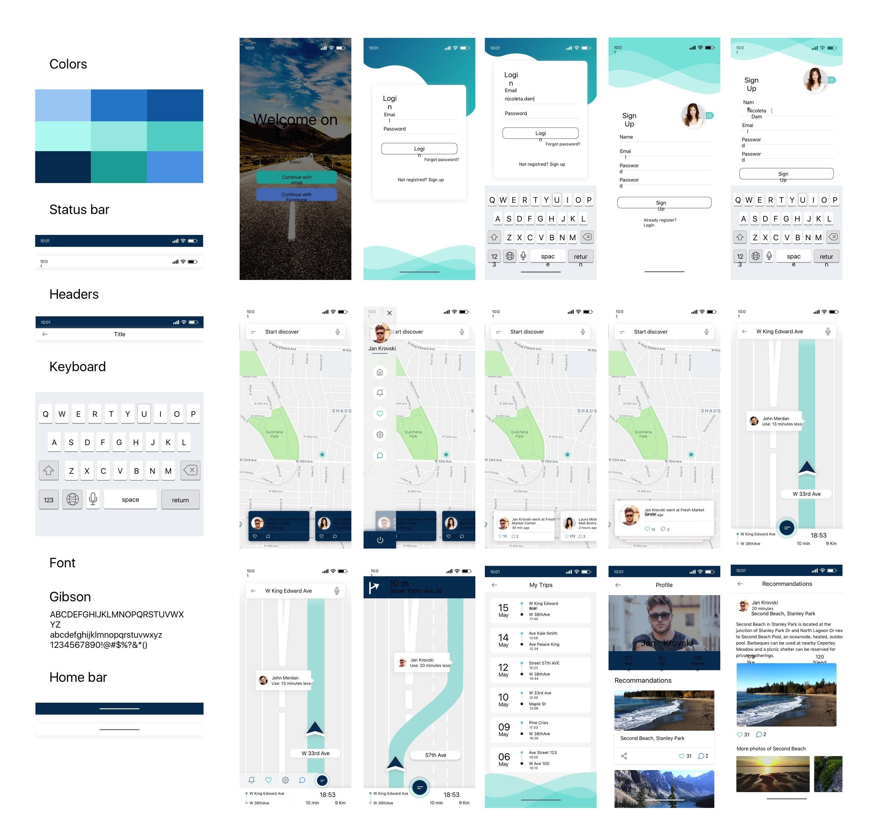 旅行app UI界面设计 .sketch素材下载 主题包-第1张