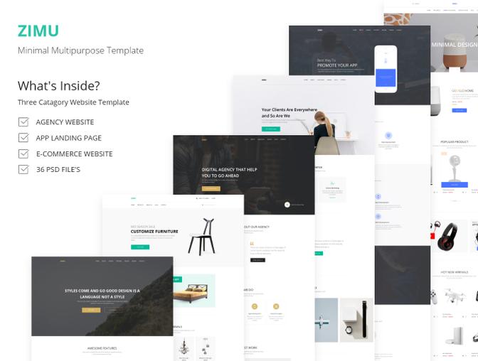 完整的ZIMU 企业网站界面设计.Xd & Sketch素材下载 [终身会员免费] VIP素材-第2张