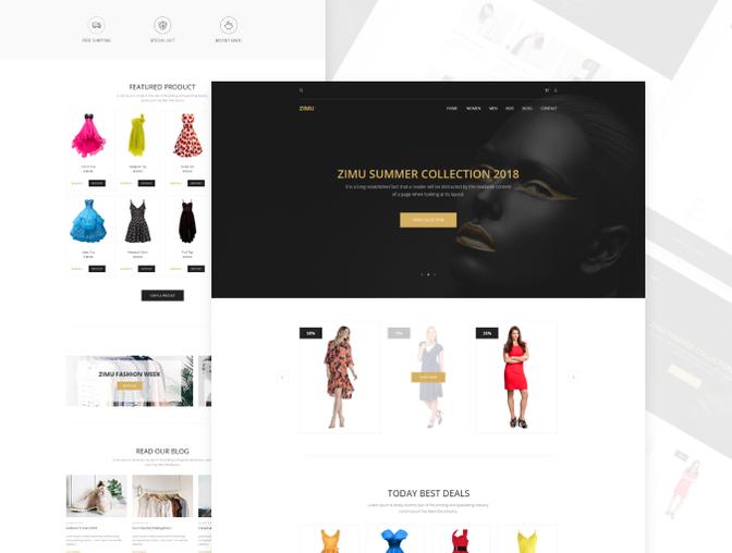 完整的ZIMU 企业网站界面设计.Xd & Sketch素材下载 [终身会员免费] VIP素材-第3张