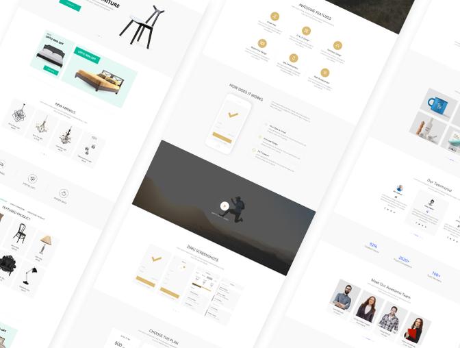 完整的ZIMU 企业网站界面设计.Xd & Sketch素材下载 [终身会员免费] VIP素材-第4张