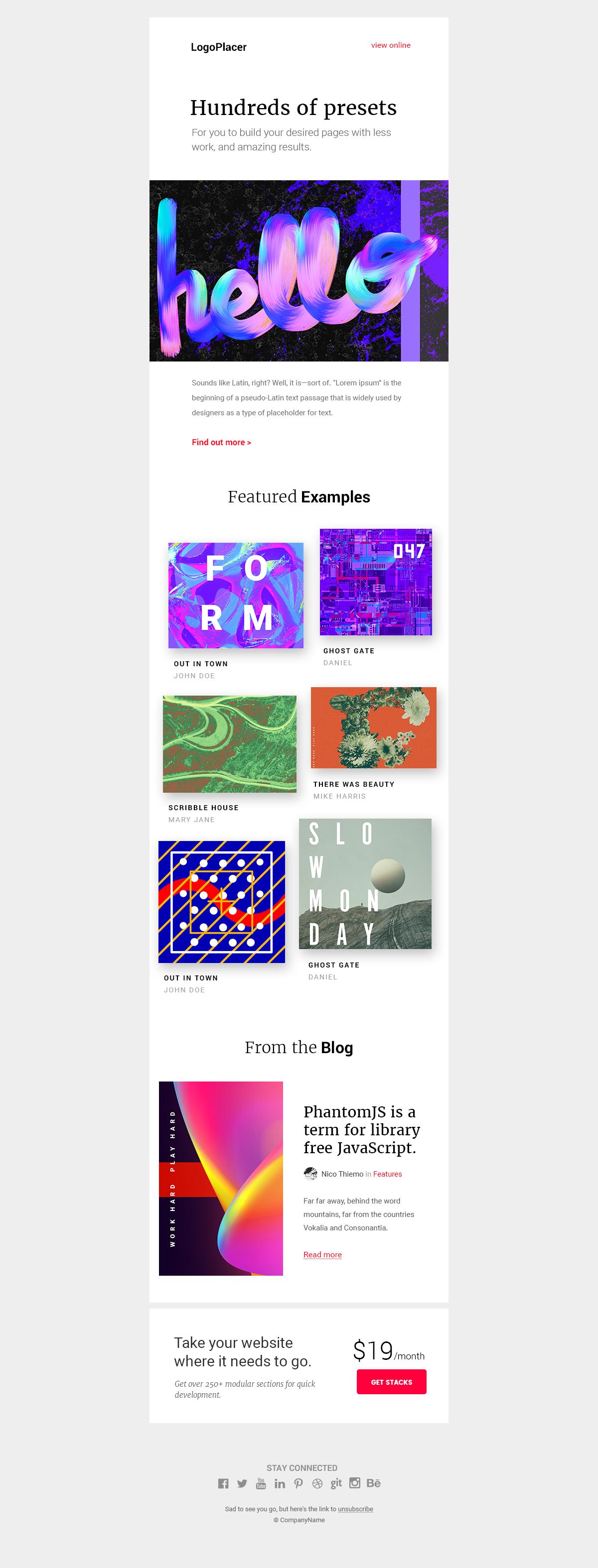 Newsletter UI模板 .psd素材下载 未分类-第1张