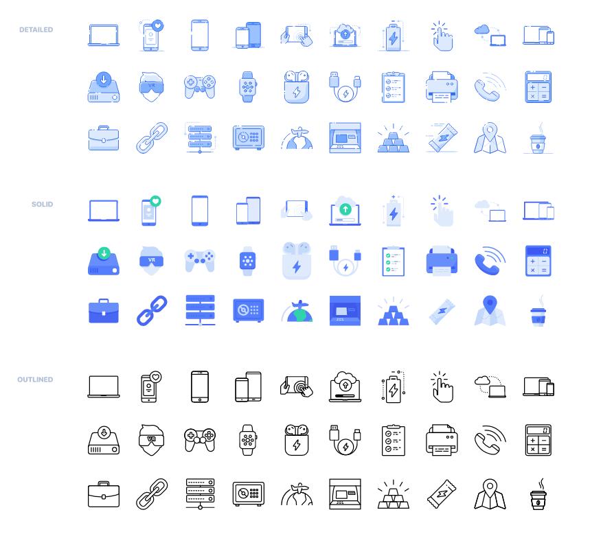 90个三种风格矢量图标 .svg & .png素材下载 图标-第1张