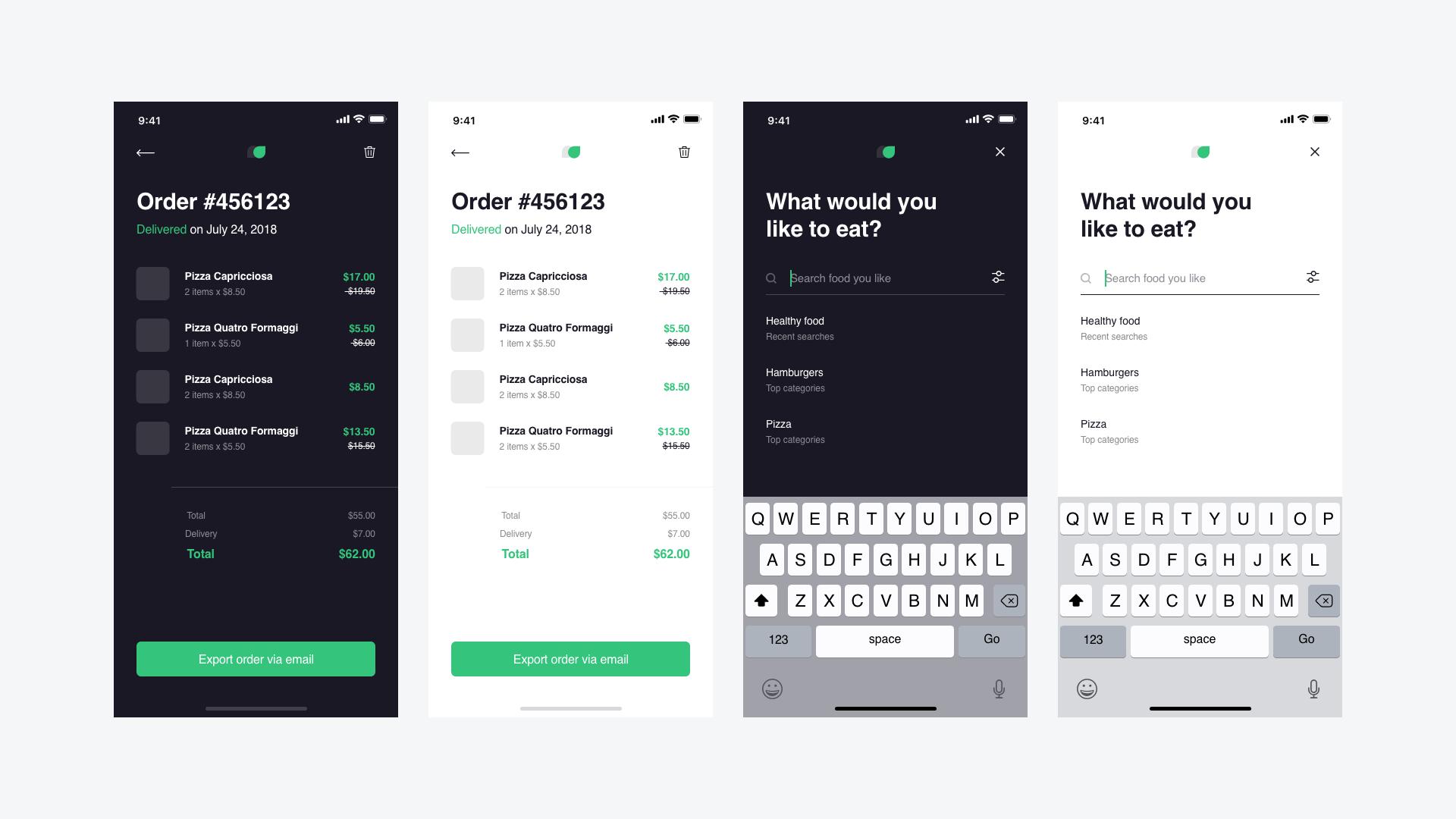 外卖app Hngry Food Delivery UI Kit .xd素材下载 界面-第1张
