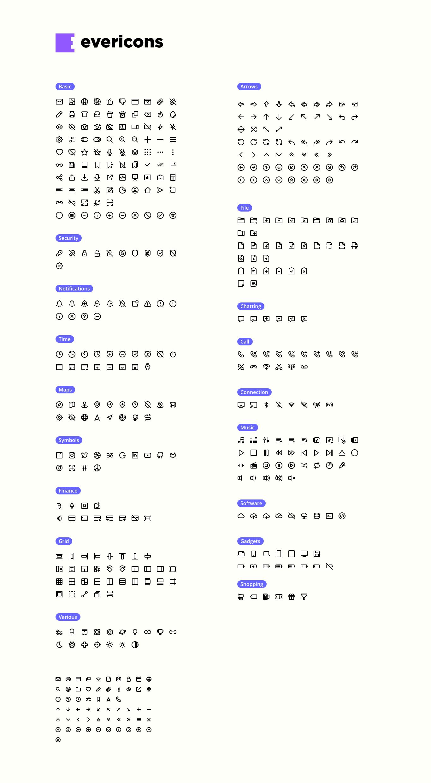 Evericons 420个实用图标 精品图标集 .svg .sketch素材下载 图标-第1张