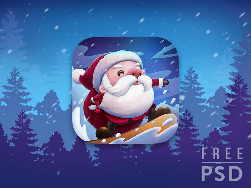 圣诞主题app 图标 app icon .psd素材下载 图标-第1张