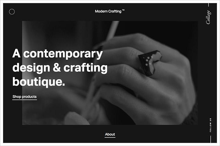 50个纯净极简风格网页设计 酷站欣赏-第14张