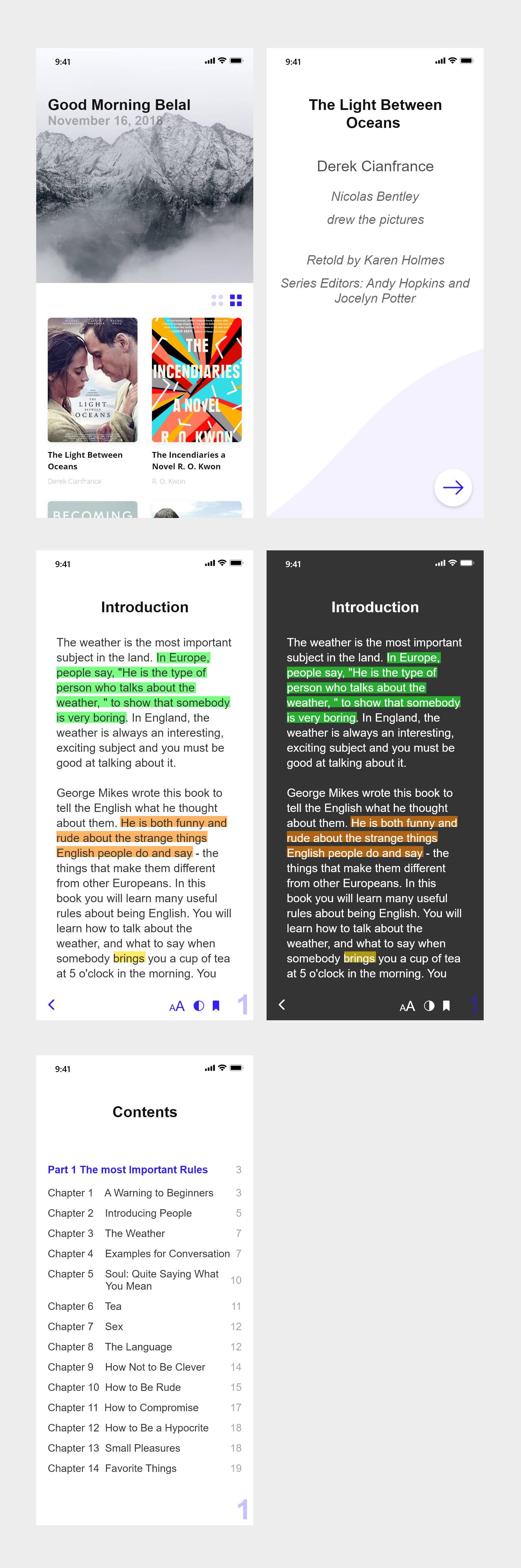 ebook电子书app ui 界面设计.xd素材下载 界面-第2张