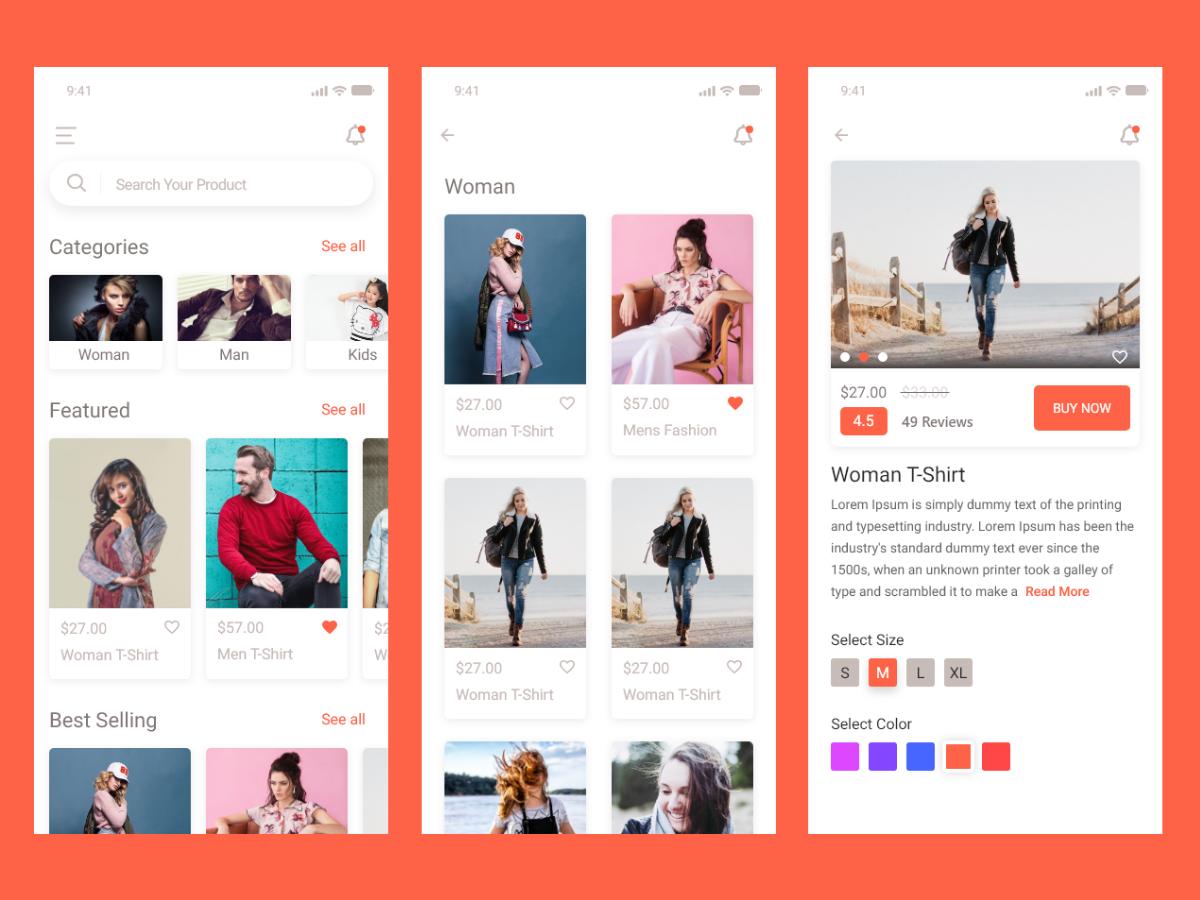 电商购物app ui界面设计 .xd素材下载 界面-第1张