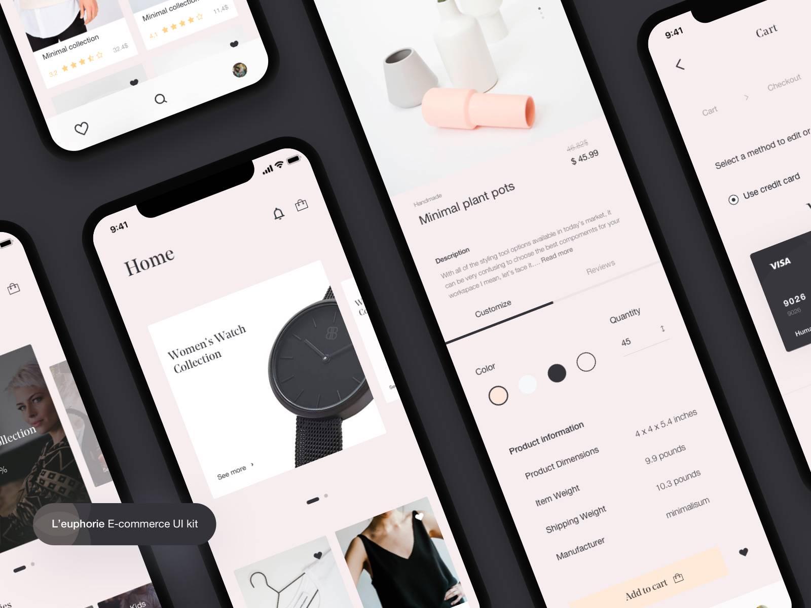 电商app UI模板界面设计 .sketch素材下载 界面-第1张