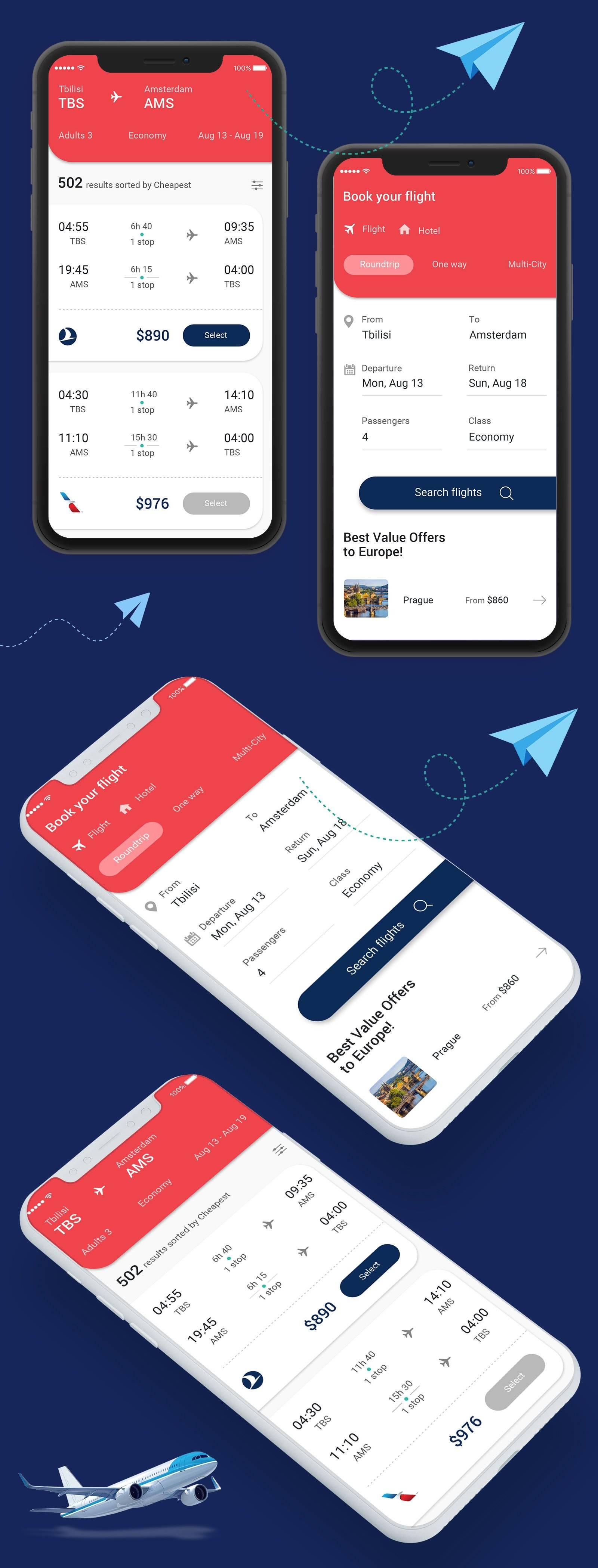 Bootstrap旅行订票UI Kit主题包 .xd素材下载 主题包-第1张