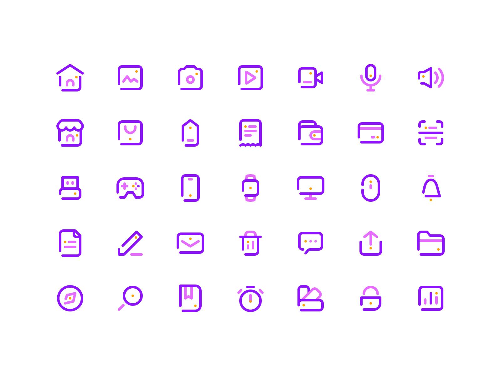 35个简洁图标ICON .sketch素材下载 图标-第1张