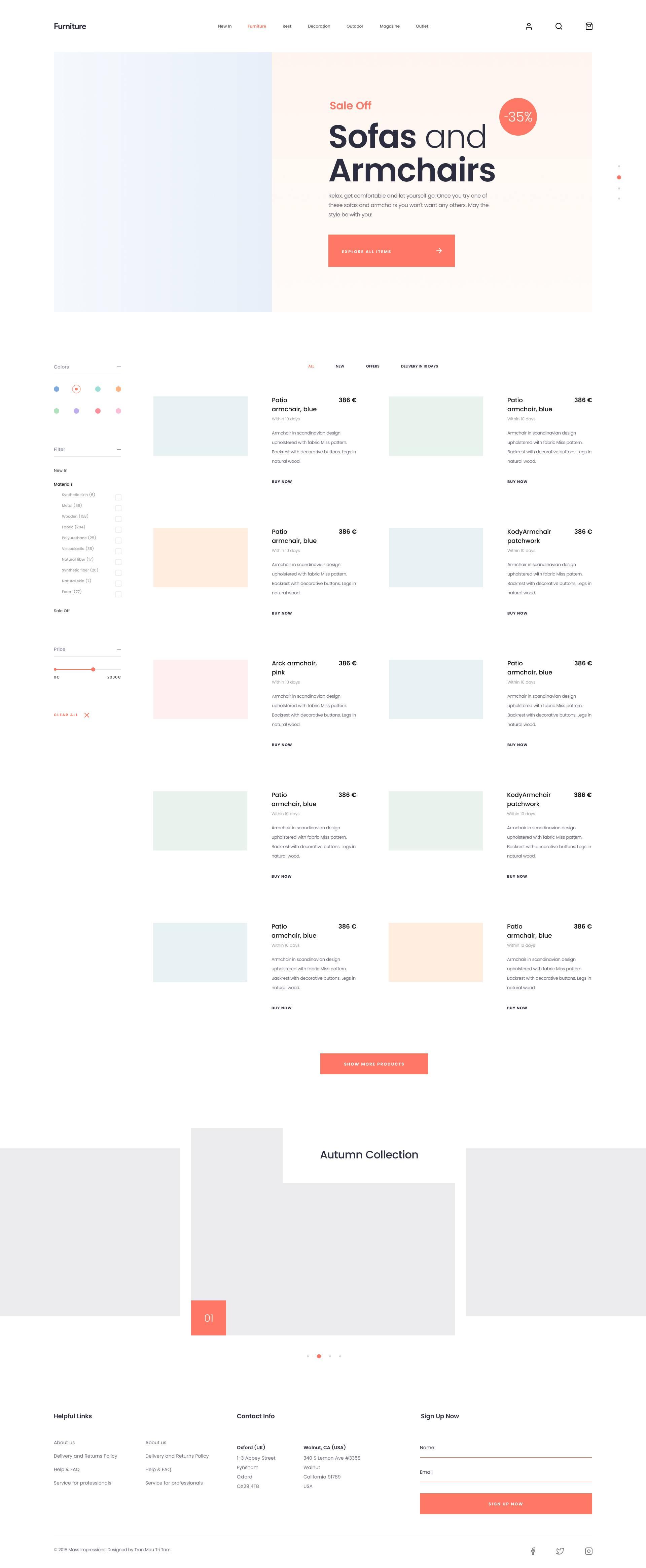 完整的家具网站页面模板.sketch素材下载 网页模板-第3张