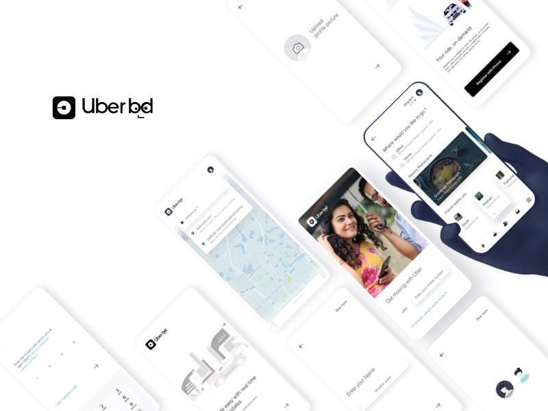 Uber App ui 界面重新设计redesign .sketch素材下载 界面-第1张