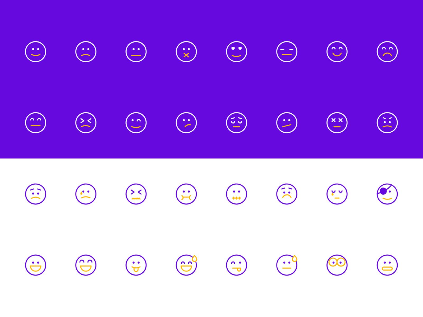 Emoji Icon Set 表情图标集 .ai & .xd素材下载 图标-第1张