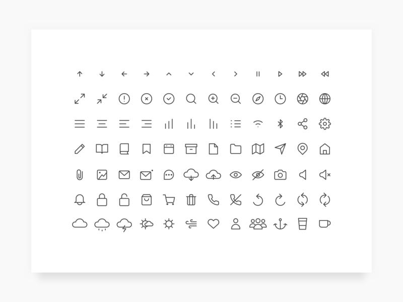 简洁的线形icon图标集 .ai素材下载 图标-第1张