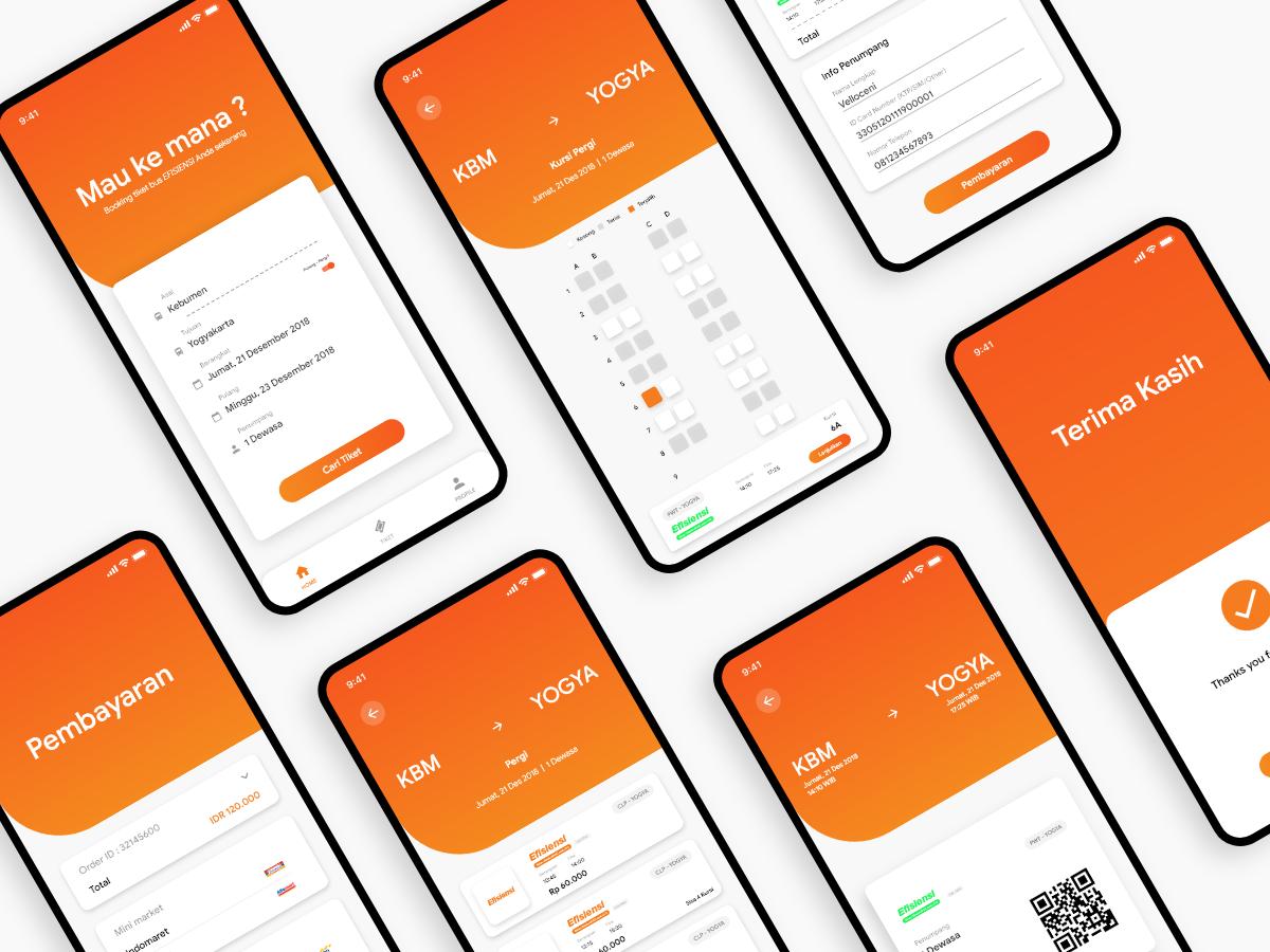 公交票务app ui界面设计.xd素材下载 界面-第1张