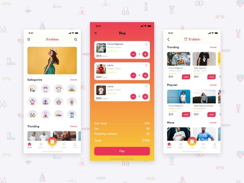 时装电商app ui 界面设计.xd素材下载 界面-第1张