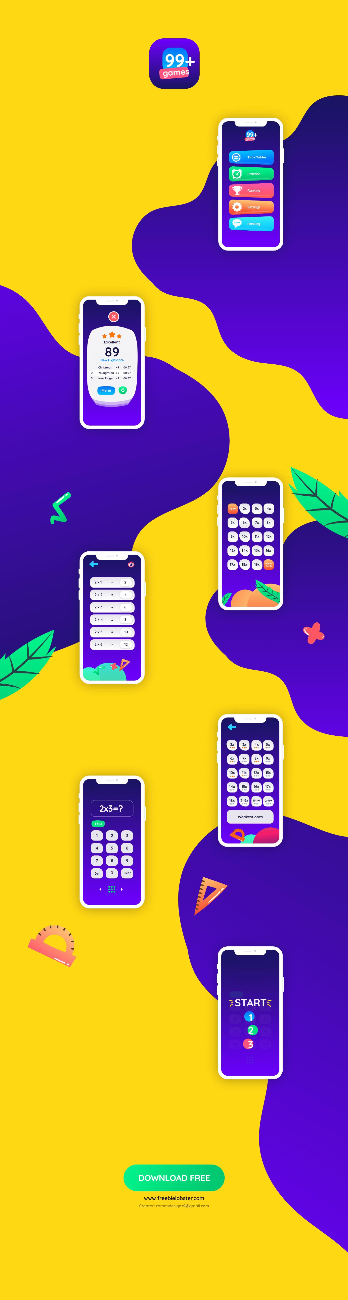 游戏app ui界面设计 .xd素材下载 界面-第1张