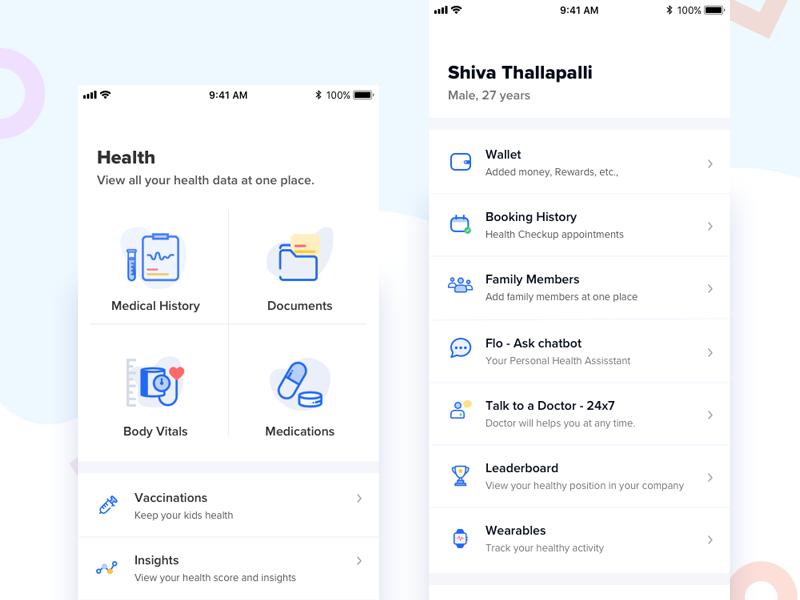 健康app ui界面设计 .sketch素材下载 界面-第1张