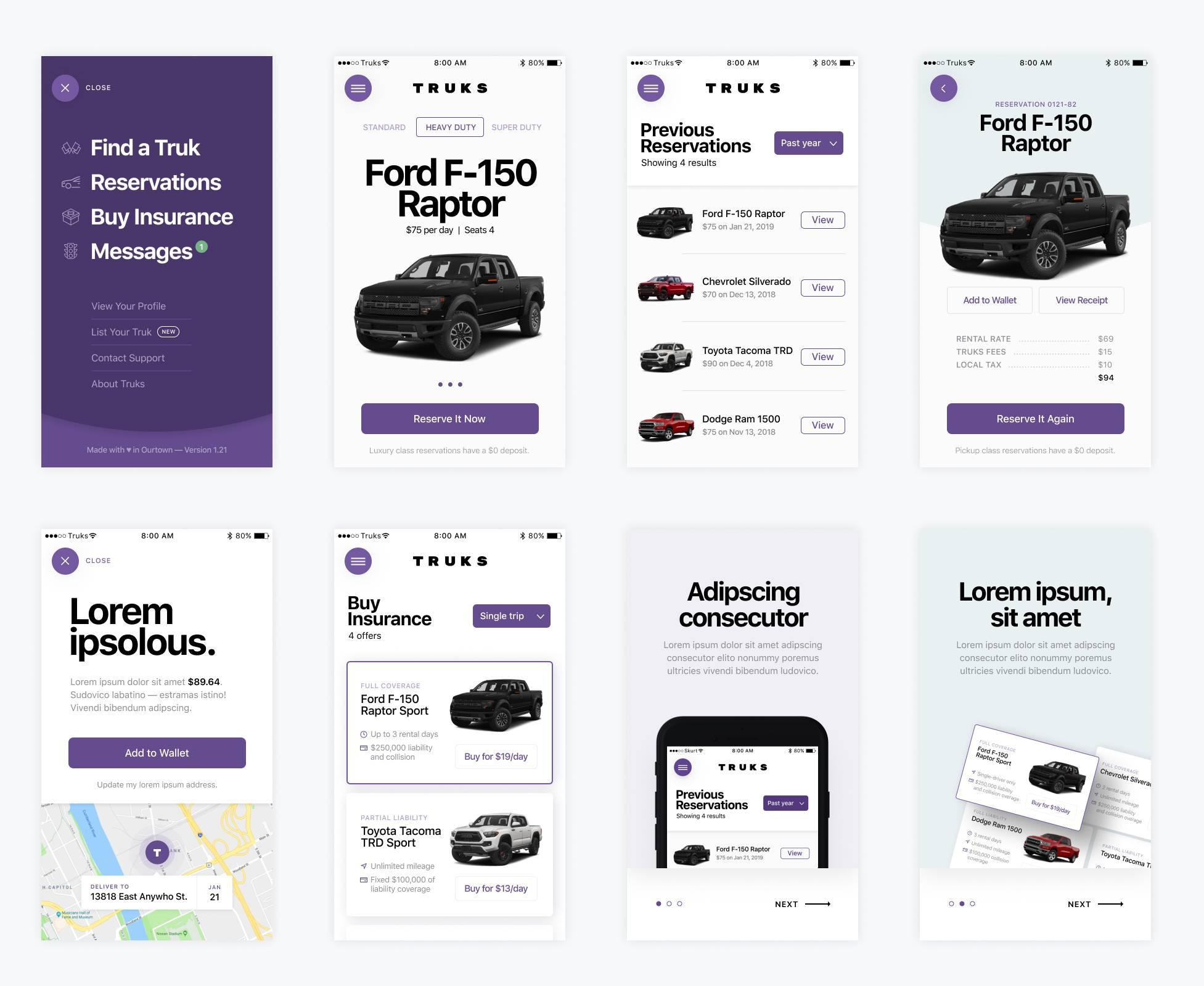 租车买卖电商app ui界面设计 .sketch素材下载 界面-第1张