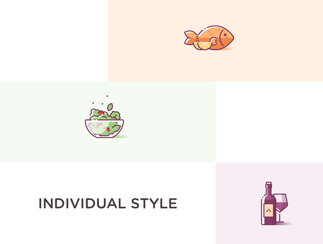 24个超级美味和多彩的美食食物图标.多种格式 VIP图标-第8张
