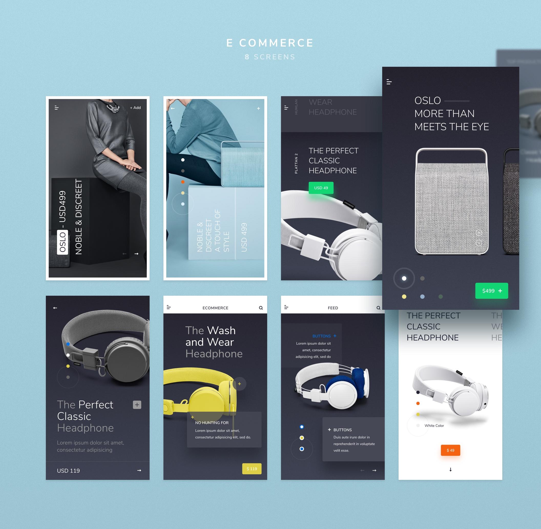 Sleek iOS UI Kit 主题包. XD素材下载 VIP主题包-第6张