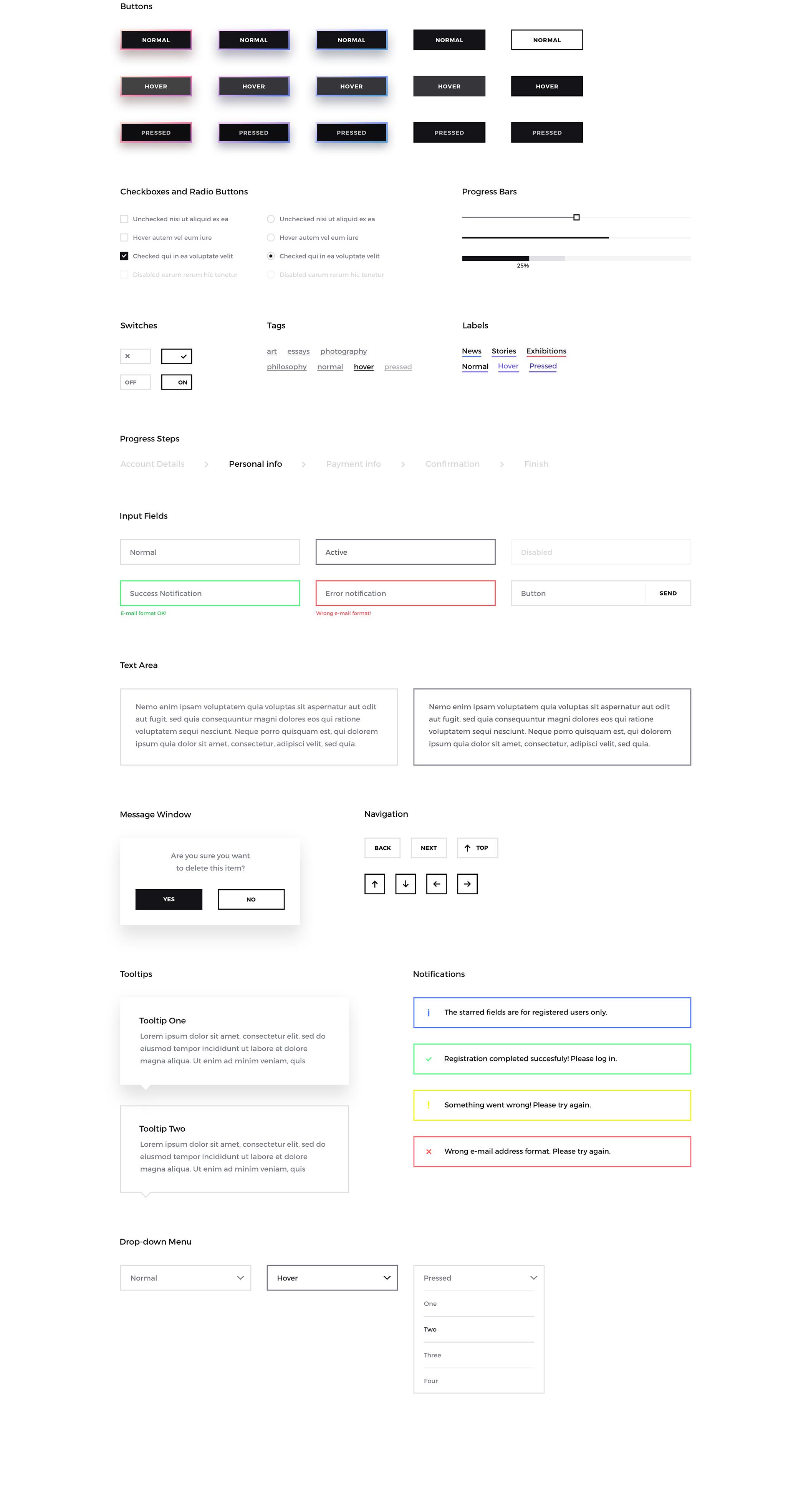 非常艺术的网站Forma UI Kit主题包.ps素材下载 VIP素材-第3张